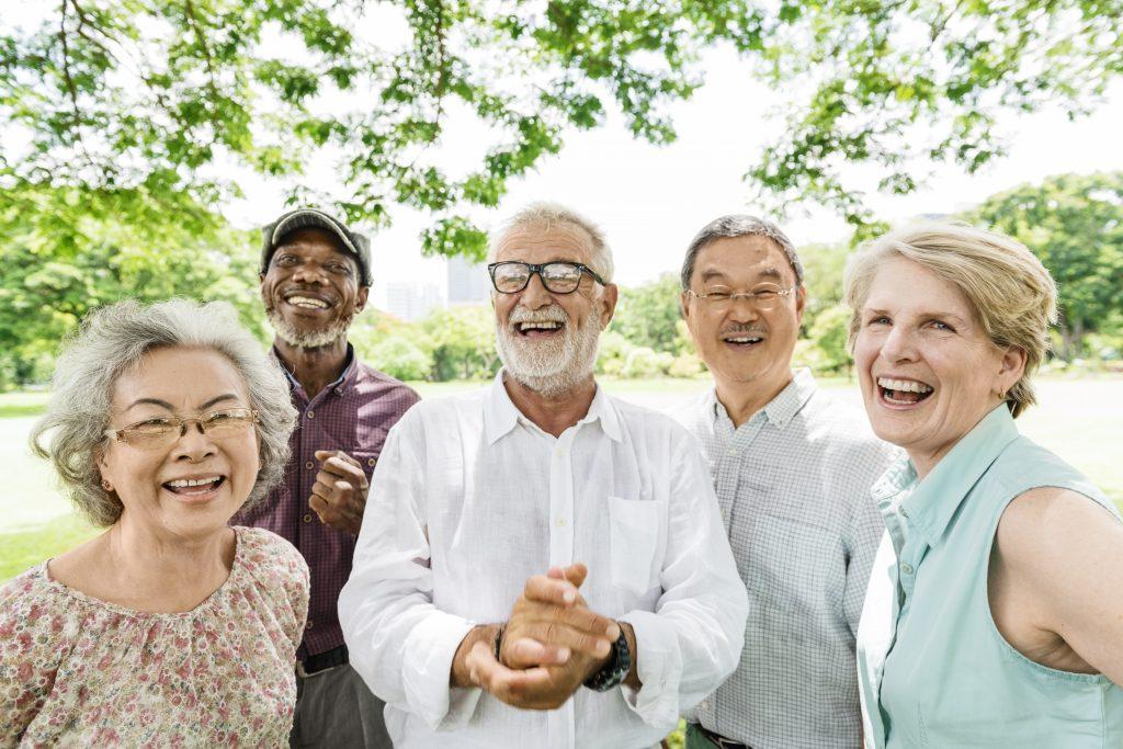 Group of Senior Retirement Friends Happy