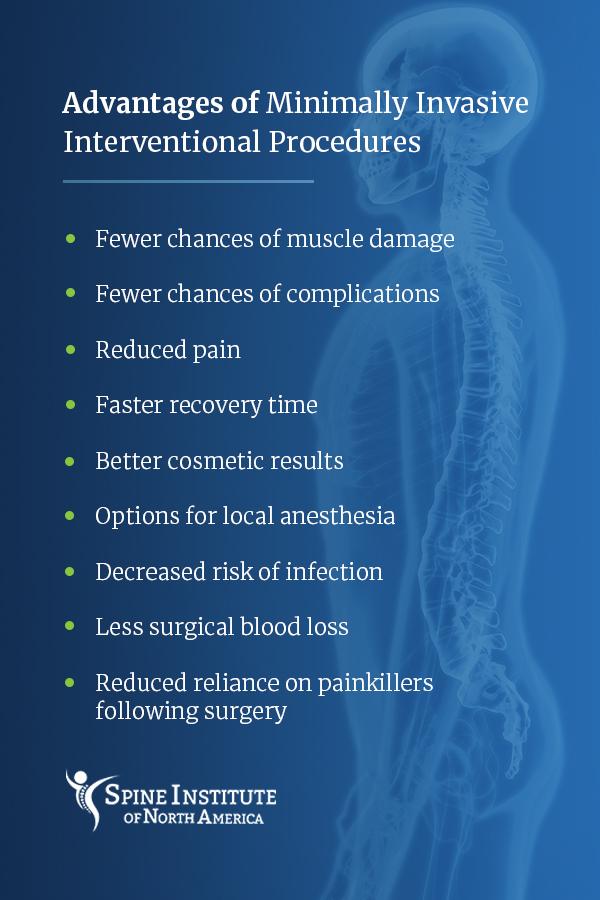 advantages of minimally invasive spine procedures